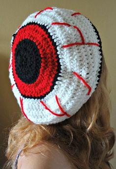 78d42765487 Items similar to Red eye halloween hat zombie bloodshot eyeball slightly  slouched monster eyeball zombie apocalyspe has begun on Etsy