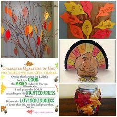 Thankfulness activities for kids. I love the gratitude garden!