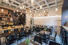 Home - YAMAS Bistro Winebar Modern, Restaurants, Conference Room, Wine, Explore, Table, Furniture, Home Decor, Mediterranean Kitchen