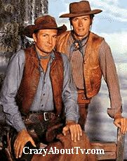 Gil Favor, Trail Boss (Eric Fleming) Rowdy Yates, Ramrod (Clint Eastwood)  Rawhide was a 60 minute western, action series on CBS about a group of men who drove cattle to market in the old west. There were rustlers, wild indians and plenty of other dangers to deal with along the way.