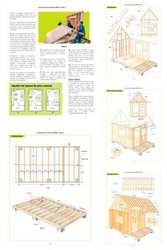 Guia simples e prático para construir seu próprio chalé de madeira de maneira fácil com plantas e passo-a-passo detalhados! Floor Plans, Building Materials, Simple, Step By Step, Log Projects, Plants, Floor Plan Drawing, House Floor Plans