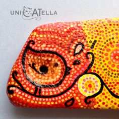 Bird by Unicatella Painted stones Dots painting