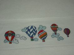 NEŞELİ BALONLAR Cross Stitch Patterns, Patch, Baby Boys, Bedroom, Art Crafts, Towels, Dots, Peacocks, Pregnancy