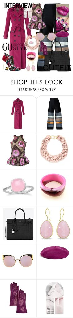 """""""PAINT IT BLACK ! job interview / 60 second style"""" by kuropirate on Polyvore featuring Burberry, Erika Cavallini Semi-Couture, Kenneth Jay Lane, BillyTheTree, Yves Saint Laurent, KENZI, Ice, Fendi, Halogen and Bloomingdale's"""