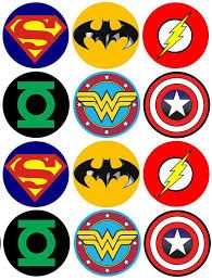 image about Superhero Cupcake Toppers Printable called Graphic outcome for tremendous hero brand printables youngster shower