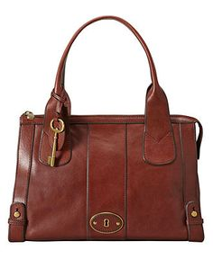 Fossil. Vintage Reissue Top Zip Satchel.