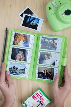 Great news for all the Instax Mini 9 owners! New photo albums are available in every Instax Mini 9 colour - Lime gree / Cobalt Blue / Flamingo pink/ Smokey white/ Ice blue. Each album holds 108 Instax Photos. Polaroid Instax Mini, Fuji Instax Mini, Poloroid Camera, Polaroid Photo Album, Instax Mini Album, Instax Mini Film, Fujifilm Instax Mini 7s, Polaroid Ideas, Polaroids