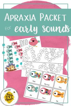 Speech therapy apraxia activity that's perfect for your younger students to practice those early developmental sounds.