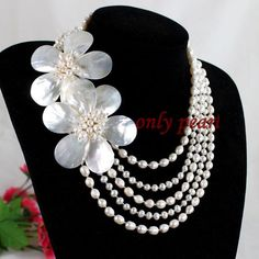 Free Shipping Pearl Necklace Shell Necklace White by OnlyPearl