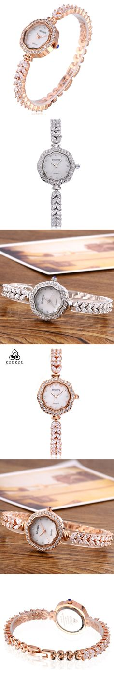 Luxury Brand Quartz Diamond Watches Women Fashion Brand Stainless Steel Bracelet Wrist Watch Femal Zircon Quartz Watch Clock