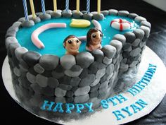 Pool Party § themed cake via CakeCentral
