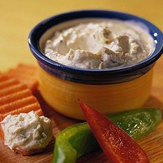 This seasoned pairing of a mild and a strong cheese is ready to enjoy in 10 minutes. Serve as an appetizer with dippers or spread on dinner rolls.