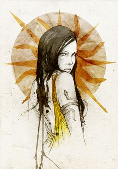 Arianne Martell by Elia Fernandez. Her  character illustrations for Game of Thrones are simply brilliant.