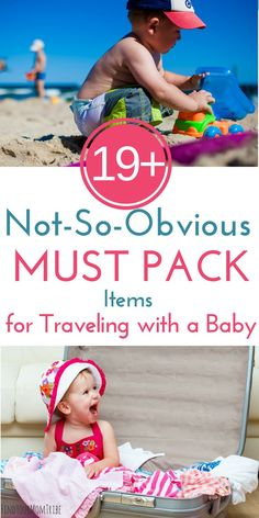 Whether you're traveling with a baby or a toddler, you won't want to forget these 19 genius items! Packing these not-so-obvious baby travel essentials will help your baby sleep better on vacation and stay healthy! (Baby travel tips included! Travel Tips With Baby, Traveling With Baby, Travel With Kids, Family Travel, Traveling By Yourself, Baby Travel, Baby Tips, Group Travel, Family Vacations