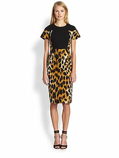 Rachel Roy Leopard Haze Printed Dress