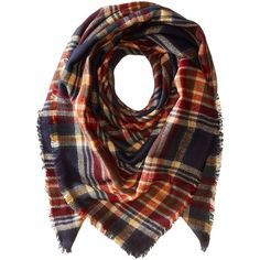 Collection XIIX Women's College Plaid Runway Wrap Scarf ($38) ❤ liked on Polyvore featuring accessories, scarves, tartan scarves, plaid scarves, wrap scarves, tartan wrap shawl and plaid wraps shawls