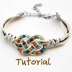 eBook (Feliz) - Tutorial to Chinese knot bracelet Friendship Bracelet/Wish Bracelet-Instant download Pattern- FREE SHIPPING