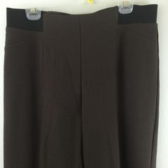 Soft Surroundings L Stretch Pull On Pants Elastic Waist Straight Leg Dress Pant…