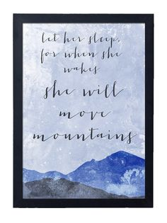 When She Wake She Will Move Mountains Print // Instant Download Wall Art Graphic Decor Minimal Modern Art