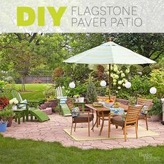 A backyard patio can be so much more than a slab of concrete. Follow these step-by-step instructions to create an affordable outdoor oasis in your backyard using flagstone pavers.