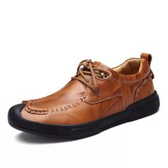 5d3c2db2 पुरुषों लक्जरी हाथ सिलाई विरोधी टक्कर पैर की अंगुली आउटडोर खेल आरामदायक जूते