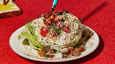 You're going to get what seems like a lot of dressing from this wedge salad recipe, but all those crevices in the iceberg lettuce will use it up. This recipe is from Turkey and the Wolf in New Orleans, LA.