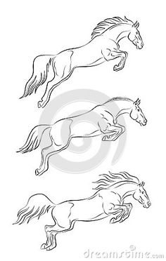 Tribal horse tattoo design tattoos pinterest tribal for Horse jumping tattoos