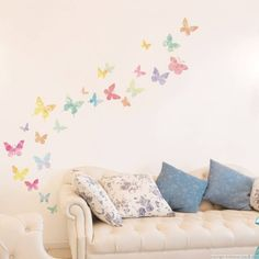 Muursticker mooie vlinders