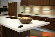 DuPont plans to embed wireless charging technology into its Corian synthetic granite countertops; gadgets can be charged by simply placing them on the surface. From DuPont.co.uk