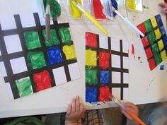 Painting perfect squares