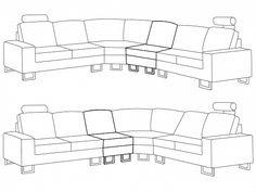 Divano beige in tessuto - Divano angolare componibile - Sofa moderno - STOCKHOLM