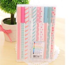 Gel Pens 10 Colorful Kawaii Korean Stationary Design New Cute x 10 Free Shipping