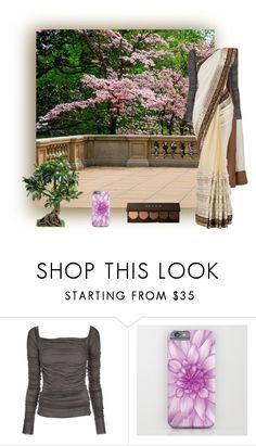 """""""On the Balcony"""" by vveave-silk ❤ liked on Polyvore featuring Rick Owens Lilies, SABYASACHI and Becca"""