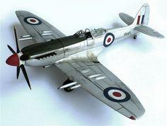 Revell's (Matchbox molds) 1/32 scale Supermarine F/Mk-24 Spitfire.