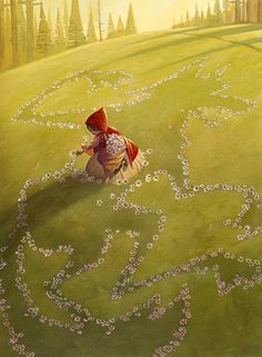 Little Red Riding Hood: Picking Flowers by David Hohn