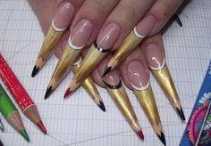 дизайн ногтей карандаши