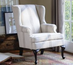Gramercy Wingback Chair | Pottery Barn - StyleSays