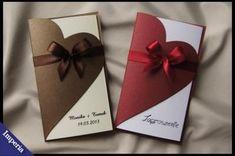 Zaproszenia ślubne na ślub najladniejsze sztywne! Wedding Cards Handmade, Greeting Cards Handmade, Wedding Anniversary Cards, Wedding Invitation Cards, Wedding Card Design, Valentine Day Cards, Diy Cards, Homemade Cards, Diy Gifts