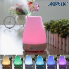7 LED Light Ultrasonic Aroma Diffuser Humidifier Aromatherapy Essential Oil #AGPtek