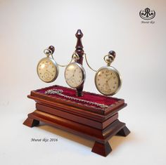 Wooden Three Pocket Watch Stand/Holder Special by SpecialWoodwork