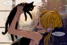 【刀剣乱舞】猫と対談する獅子王【とある審神者】 : とうらぶ速報~刀剣乱舞まとめブログ~