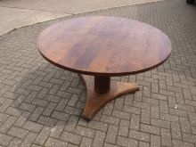 SWRB2 Solid Wood Restaurant / Bar Table . 120cm Diameter www.cityfurnitureclearance.co.uk