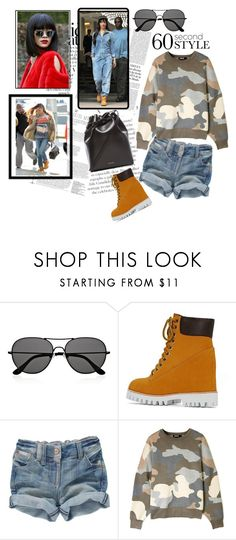 """Calling All Shoe-A-Holics: Jeffrey Campbell Wallace Wedge Boots"" by harperleo ❤ liked on Polyvore featuring The Row, Timberland, Jeffrey Campbell, DKNY, Mansur Gavriel, aviators and 60secondstyle"