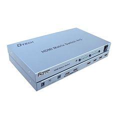 dtech® HDMI Matrix 4 * 2, tuki 3d – EUR € 88.99