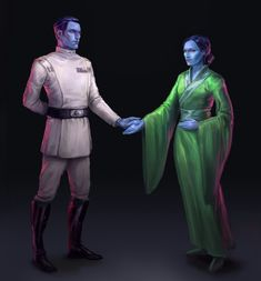 Thrawn and Lisetha from TIE Fighter by ImperialGirl (artwork by ymir) Star Wars Jokes, Star Wars Facts, Star Wars Rpg, Star Wars Fan Art, Star Wars Jedi, Star Wars Rebels, Star Wars Characters Pictures, Images Star Wars, Grand Admiral Thrawn