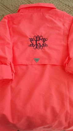 Monogrammed Columbia Fishing Shirt!!! Etsy listing at https://www.etsy.com/listing/219351763/custom-personalized-monogrammed-womens