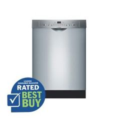 Bosch Ascenta 50-Decibel Built-in Dishwasher with Stainless Steel Tub with Polypropylene Bottom (Stainless Steel) (Common: 24-in; Actual 23.625-in) ENERGY STAR