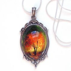 Twilight  Wearable Art Cameo Necklace by youmin on Etsy, $30.00