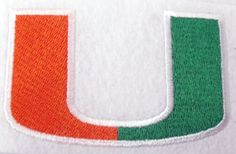 University of Miami Letter Embroidered Patch