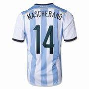 2014 FIFA World Cup Argentina Javier Mascherano 14 Home Soccer Jersey